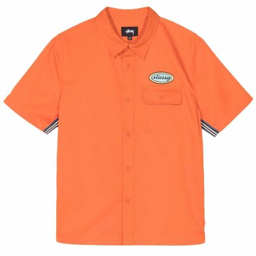 Stussy Side Taped Garage Shirt Orange
