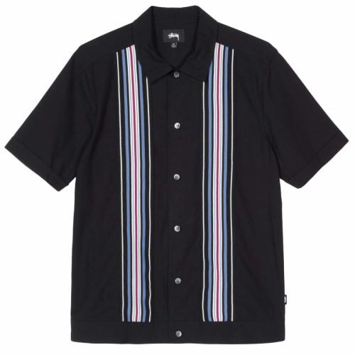 Stussy Striped Knit Panel Shirt