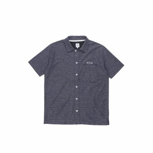 Polar Skate Co Patterned Stripe Shirt Black / Purple