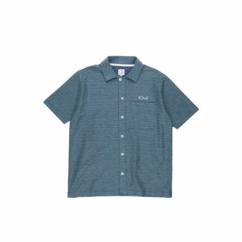 Polar Skate Co Patterned Stripe Shirt Navy / Green