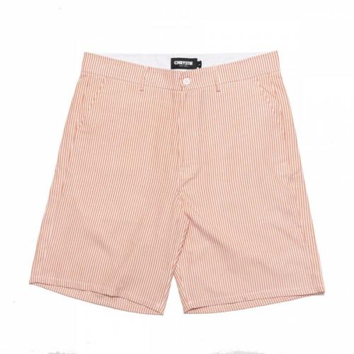 Chrystie Stripe Shorts Orange