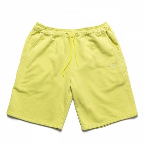 Chrystie Garment Dye Classic Logo French Terry Sweatshorts Apple Green