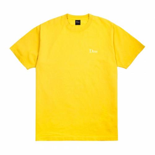 Dime Classic Small Logo T-shirt Yellow