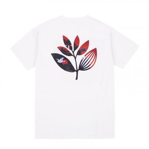 Magenta Surreal Plant Tee White