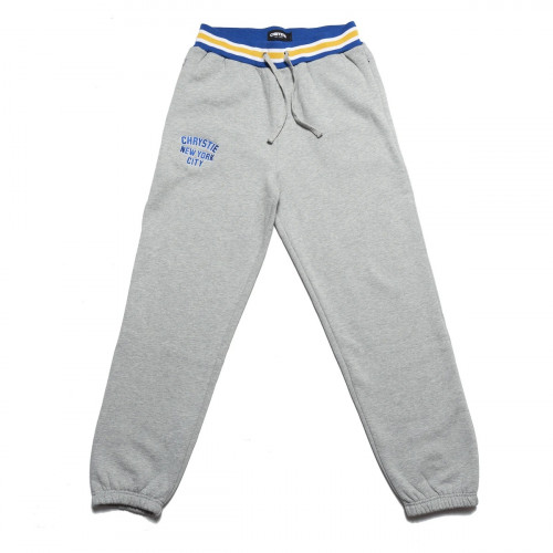 Chrystie NYC Varsity Logo Sweatpants Ash Grey