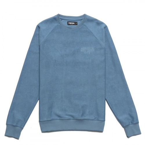 Chrystie NYC Reversed French Terry Crewneck Stone Blue