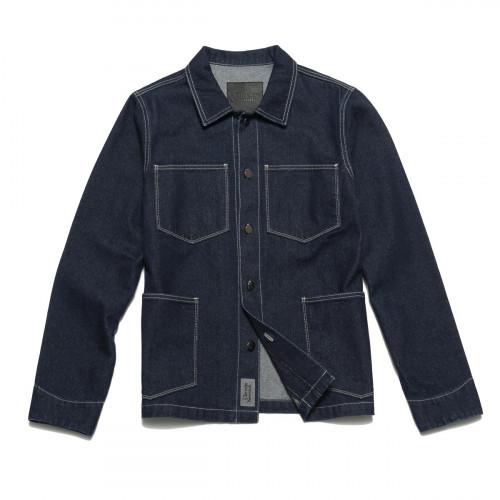 Chrystie NYC Raw Denim Shirt Jacket
