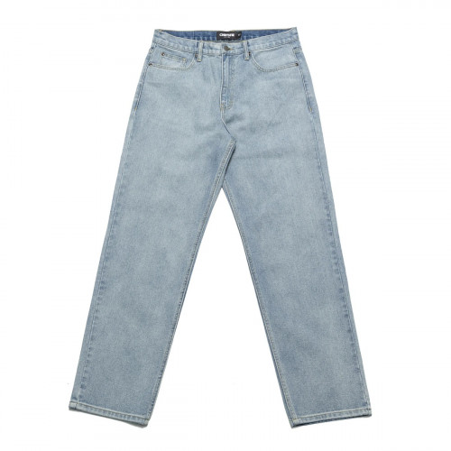 Chrystie NYC Relaxed Fit Denim Pants Washed Blue