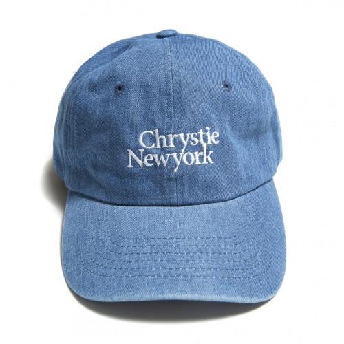 Chrystie NYC Classic Logo Denim Hat