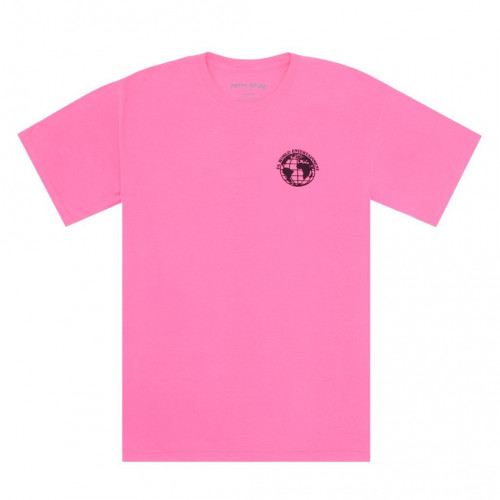 Fucking Awesome FA World Entertainment Tee Pigment Dyed Neon Pink