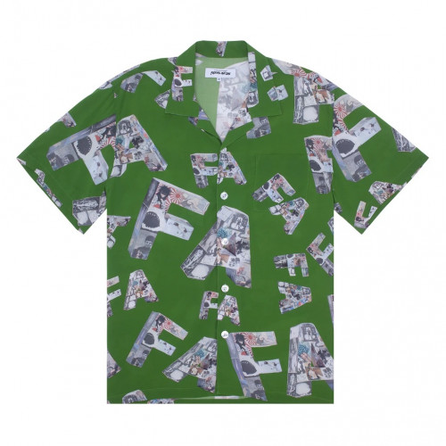 Fucking Awesome Paper Mache Club Shirt Forrest Green