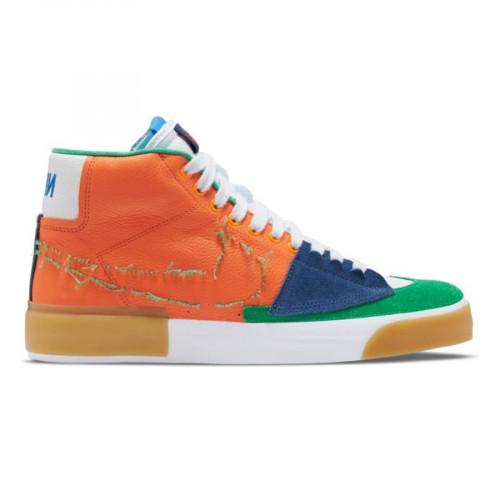 Nike SB Zoom Blazer Mid Edge Safety Orange/Lucky Green