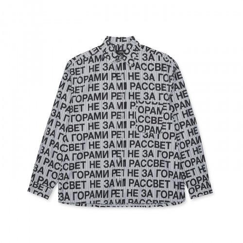 РАССВЕТ Printed Shirt Black