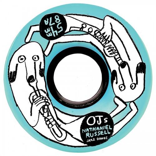 OJ Wheels Nathaniel Russell Jazz Dawgs Keyframe 87A 54mm