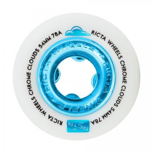 Ricta Wheels Chrome Clouds Blue 78A 54mm