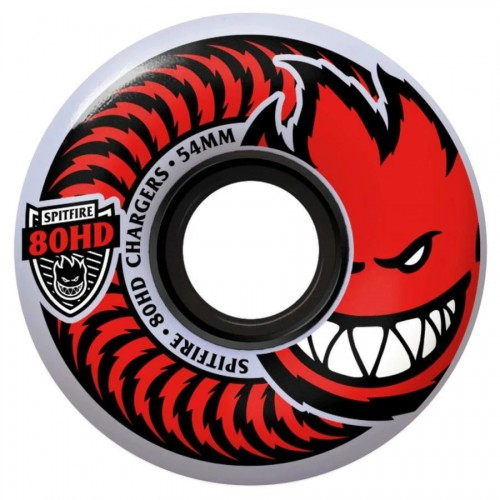 Spitfire Wheels Soft 80HD Chargers Classic Clear 54MM