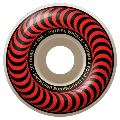Spitfire F4 101D Classic Red Wheels 51MM