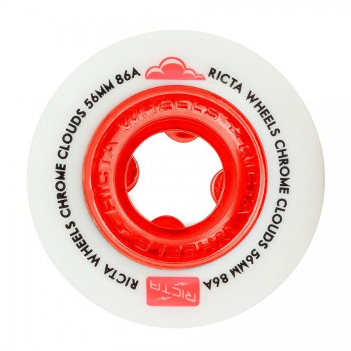 Ricta Wheels Chrome Clouds Red 86A 56mm