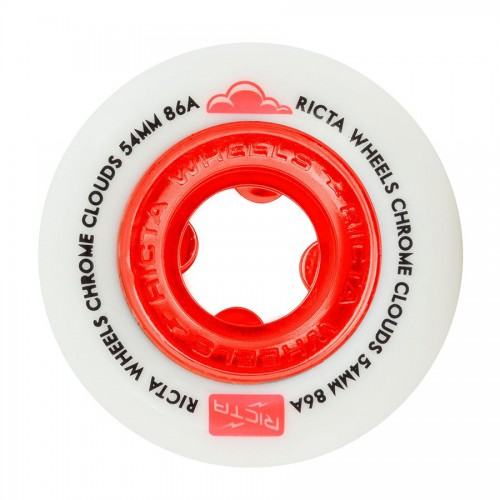 Ricta Wheels Chrome Clouds Red 86A 54mm