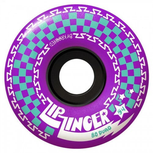 Krooked Zip Zinger Wheels 80D Purple 54MM