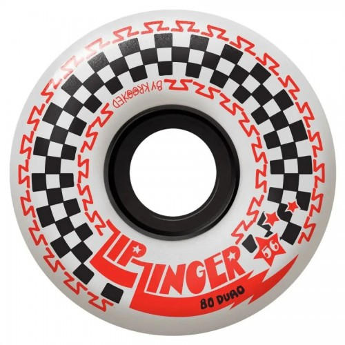Krooked Zip Zinger Wheels 80D White 56MM